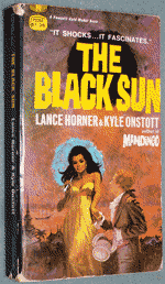 Photo of paperback book The Black Sun by Lance Horner and Kyle Onstott, front cover