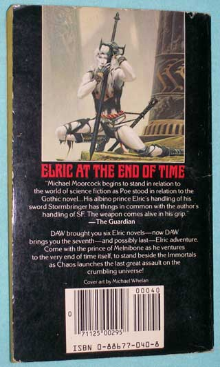 Photo of Elric At The End Of Time, Michael Moorcock, rear cover.