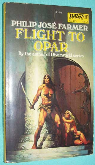 Photo of paperback book Flight To Opar by Philip Jose Farmer, front cover.