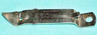 Photo showing bottom portion of Stoney's and Esquire Beer Bottle Opener