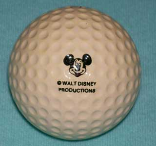 Photo of Vintage Golf Ball - Walt Disney World, showing Mickey Mouse Logo on rear