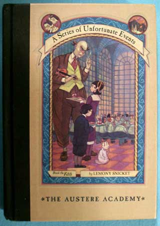 A Series of Unfortunate Events, The Austere Academy, Lemony Snicket, front