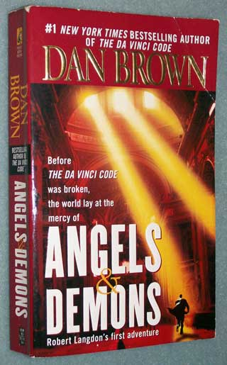 Angels and Demons, Dan Brown, front cover