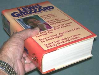The Most of Lewis Grizzard, book being held to show size