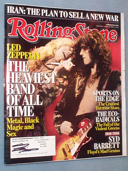 Rolling Stone Aug.10, 2006 Led Zeppelin, Syd Barrett