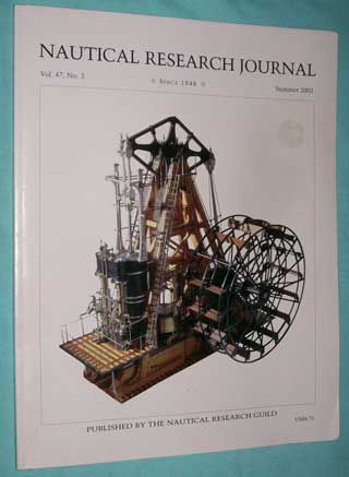 Photo of Nautical Research Journal magazine back issue. Summer 2002 - volume 47, number 2.
