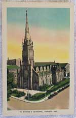 Photo of unused postcard - St. Michael's Cathedral, Toronto, Canada - front