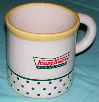 Krispy Kreme Coffee Cup, showing left side