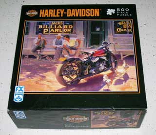 Photo of a Harley Davidson Jigsaw Puzzle, box.