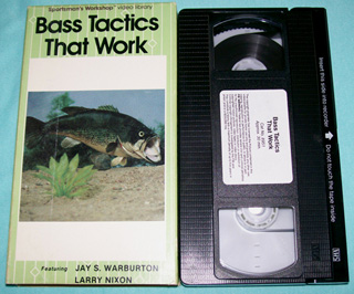 Photo of VHS - Bass Tactics That Work by Jay Warburton and Larry Nixon - front