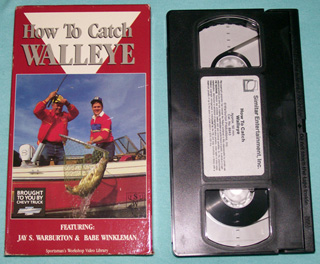 photo of VHS How To Catch Walleye by Jay Warburton and Babe Winkleman, front