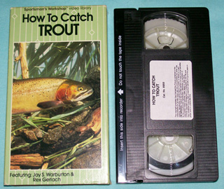 Photo of VHS - How to Catch Trout by Jay Warburton and Rex Gerlach - front